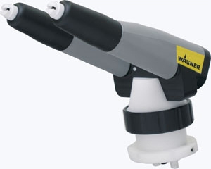 pistola de pintura sistema doble ataque alta tasa de transferencia.
