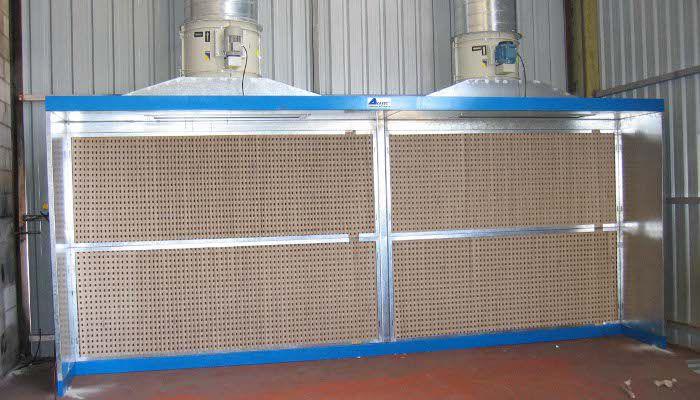 Cabinas de pintura industrial cabina de pintura de filtro seco - Cabina pintura ocasion ...
