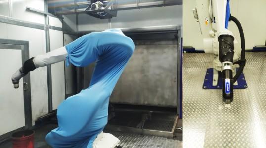 robot de pintura industrial